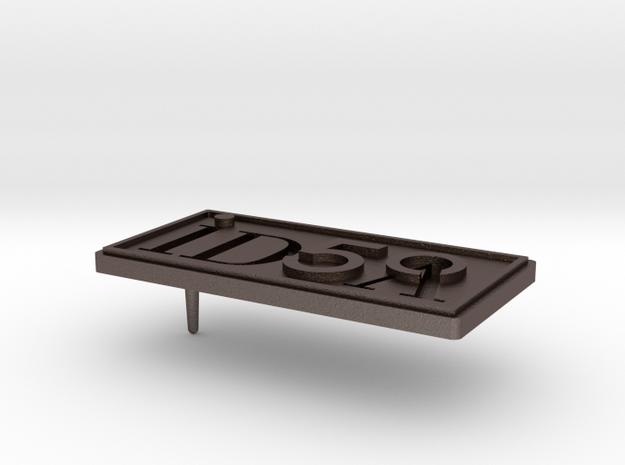 IDSA 50 Pin Design v3_2015 07 22 in Polished Bronzed Silver Steel