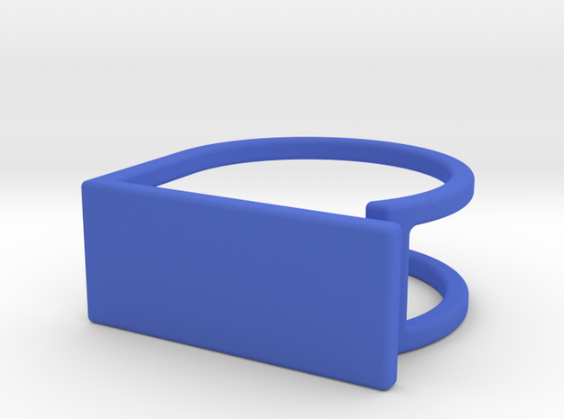 Ring with your drawing. Engraved. in Blue Processed Versatile Plastic