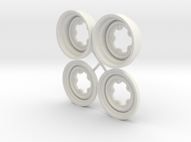 SRB VW style Wheels 1.75 in White Natural Versatile Plastic