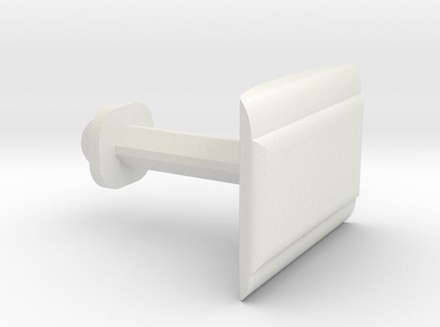 Customizable Cufflink   in White Natural Versatile Plastic