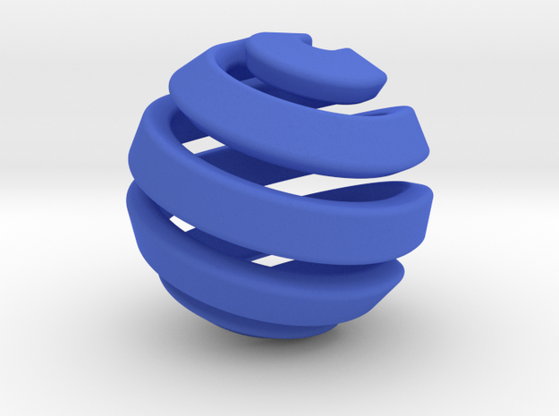 Ball-11-1 in Blue Processed Versatile Plastic