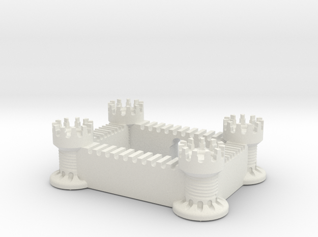 Castle (All Materials) in White Natural Versatile Plastic