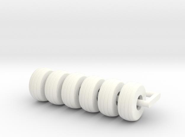 14Lx16 Tire 6 in White Processed Versatile Plastic