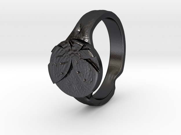 Vanquisher's Seal in Polished and Bronzed Black Steel: 8.5 / 58