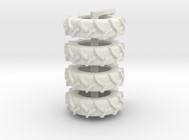 1/64 20.8 x 42 Rice Tire 4 in White Natural Versatile Plastic