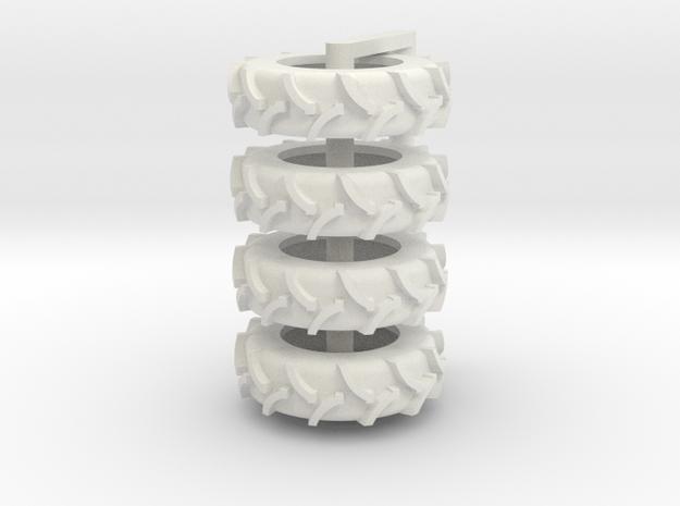 1/64 20.8 x 42 Rice Tire 4 in White Natural Versatile Plastic