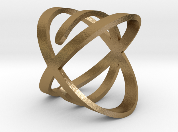 'So Close' Ring in Polished Gold Steel