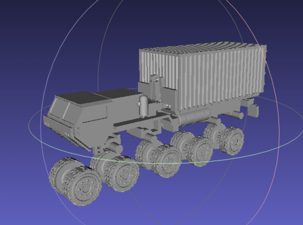 1/144 Hemtt M1120 LHS with 20ft Container in White Processed Versatile Plastic
