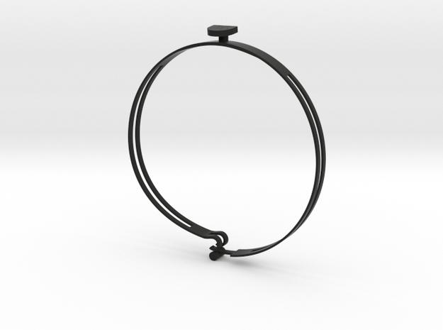 Casanova L (36,5 cm) in Black Natural Versatile Plastic