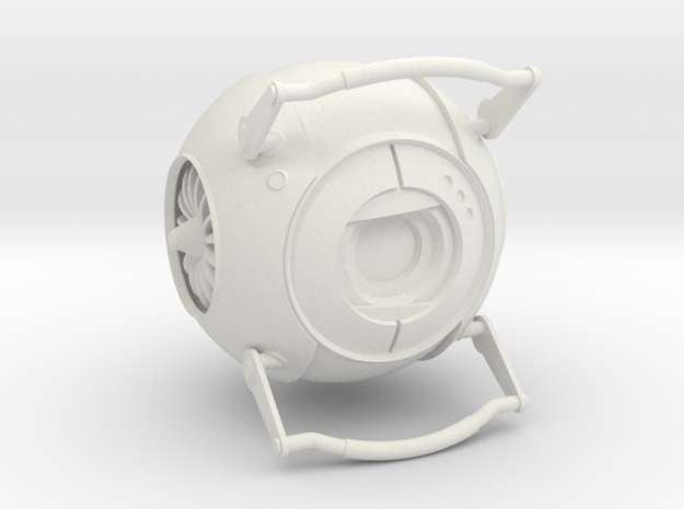Wheatley from Portal 2 in White Natural Versatile Plastic