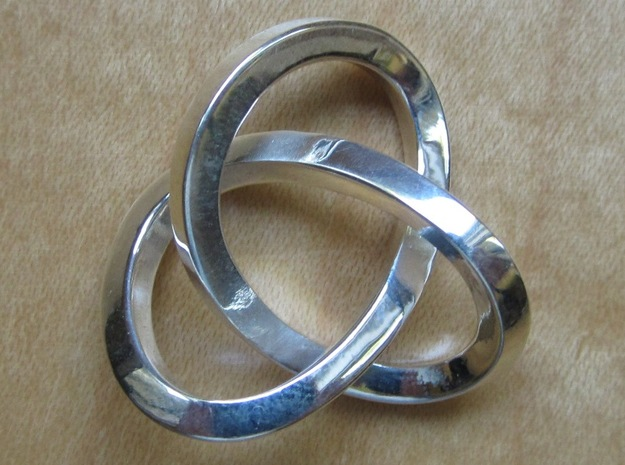 Knotted Mobius Band (Lg) in Polished Silver