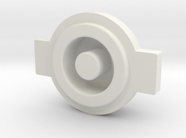 Ligfht Button in White Natural Versatile Plastic