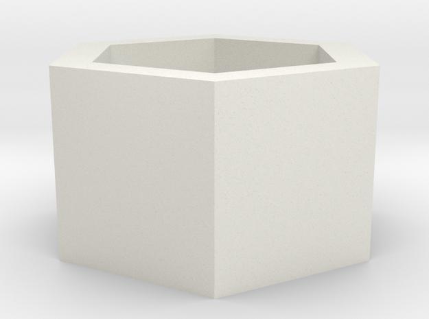 2015071325DWStemenKeeperHexagonToStl1000 in White Natural Versatile Plastic