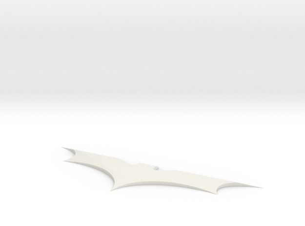Batman Batarang in White Natural Versatile Plastic