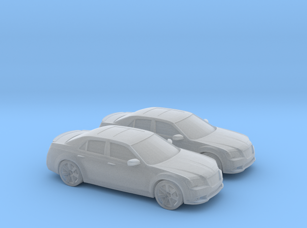 1/160 2X 2011 Chrysler 300 SRT in Smooth Fine Detail Plastic