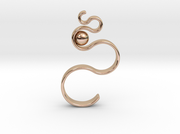Swirl Pendant in 14k Rose Gold Plated