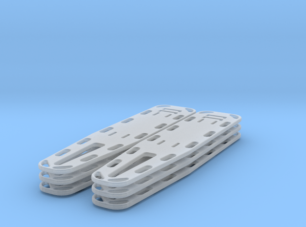 1/35 Spineboard  6 Ea in Smooth Fine Detail Plastic