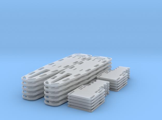 1-35 Full/half Spine Board 10ea in Smooth Fine Detail Plastic