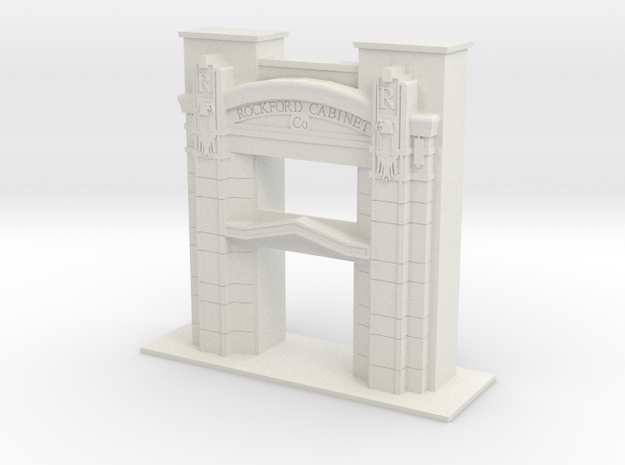 1/96 SCALE ROCKFORD CABINET COMPANY ENTRY in White Natural Versatile Plastic