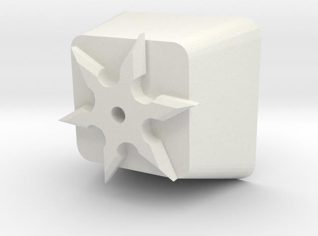 Shuriken Cherry MX Keycap in White Natural Versatile Plastic