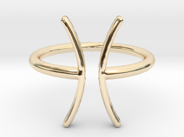 Pisces in 14K Gold