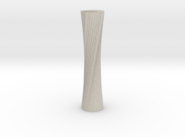 Twisted Candle Stick in Sandstone