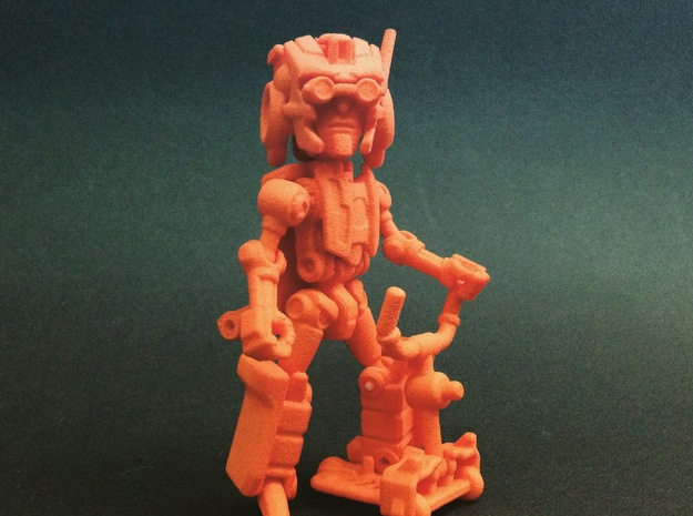 "Minibot ""Eyebrows"" in Orange Processed Versatile Plastic"