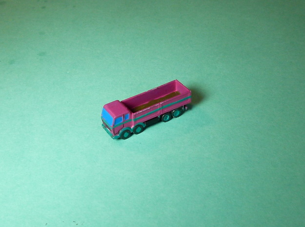 4-Axle Truck, 4-Achs Lastwagen 1/285 6mm in Smooth Fine Detail Plastic