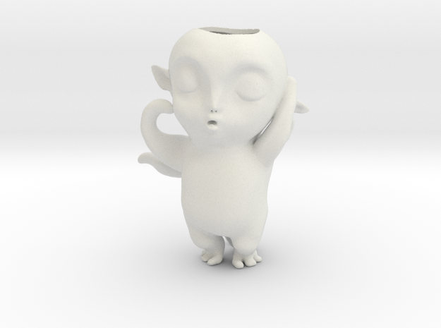 Monster Hunt Planter,怪物狩猎 in White Strong & Flexible