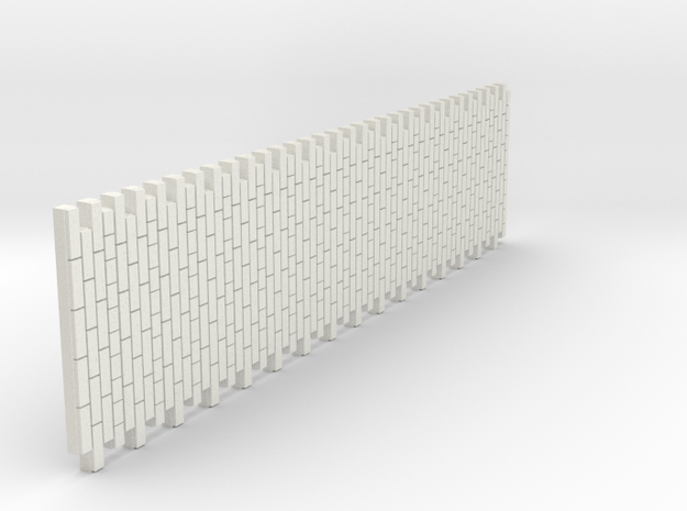 A-nori-bricks-narrow-tall64-sheet-1a in White Natural Versatile Plastic