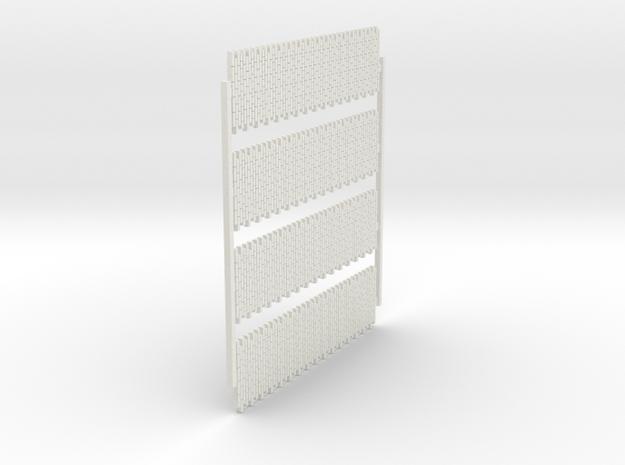 A-nori-bricks-narrow-tall64-sheet-x4-1a in White Natural Versatile Plastic