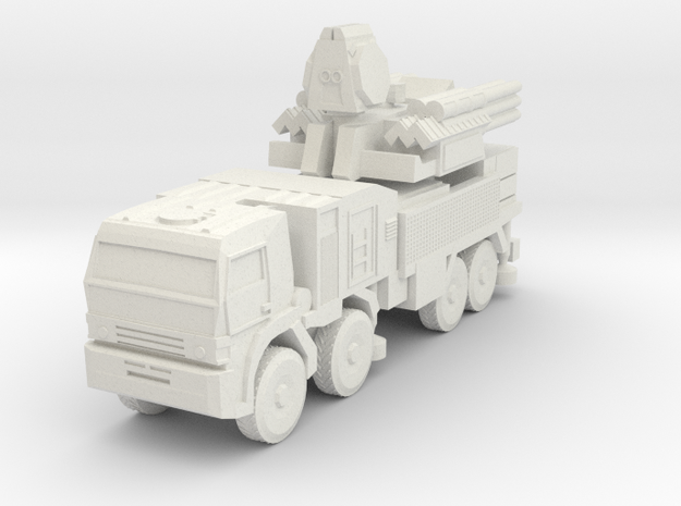 S1 Pantsir SA-22 Launcher 6mm Low Res in White Strong & Flexible