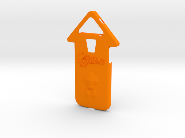 Galaxy S4 Splatoon Squid Case (speaker to front) in Orange Strong & Flexible Polished