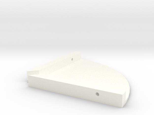 01-11-16 Speaker Shelves in White Processed Versatile Plastic