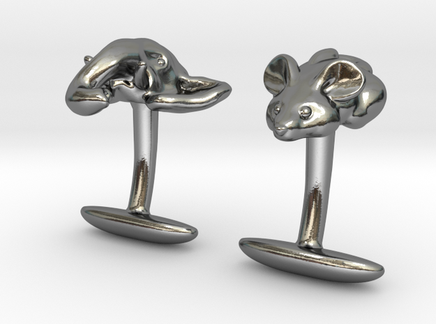 Mouse Elephant in Polished Silver