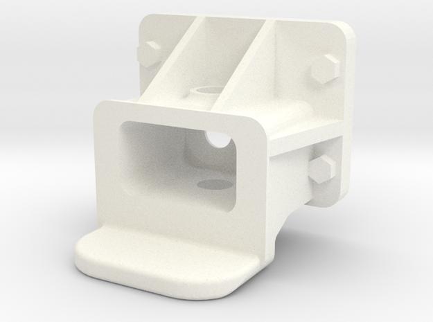 "3/4"" Scale Pilot Coupler Pocket in White Processed Versatile Plastic"