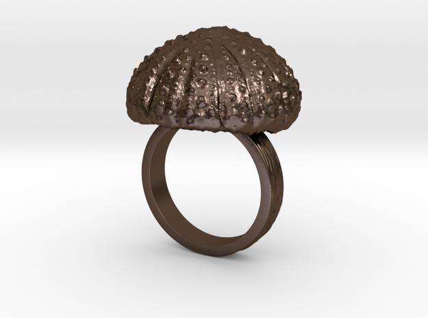 Urchin Statement Ring - US-Size 8 1/2 (18.53 mm) in Polished Bronze Steel