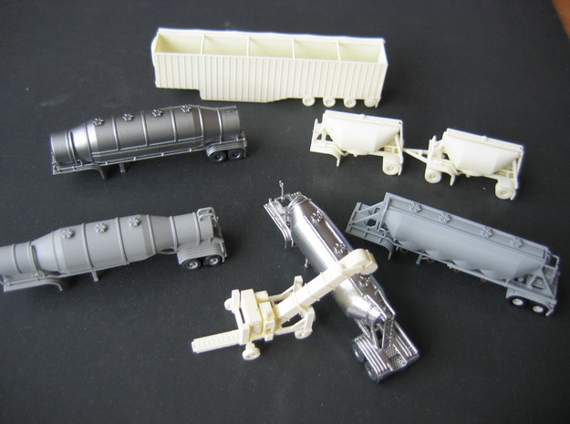 N scale 1/160 Dry Bulk 1625 Trailer 09b 3d printed Some of my other N-scale, 3D-printed models.
