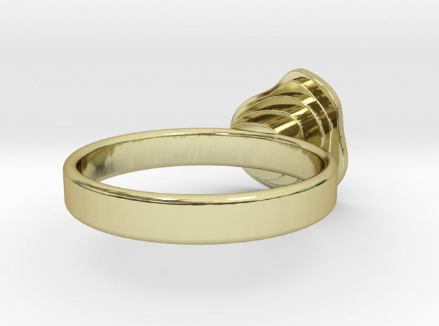 Gold Mine Ring - UK L (inside diameter 16.31mm) 3d printed