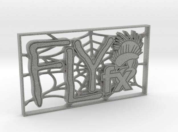 FLYfx Logo In Spider's Web in Metallic Plastic