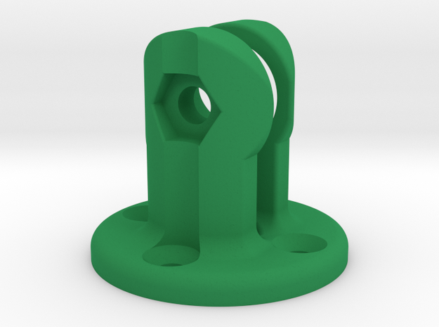 K-Edge Combo Mount Virb Interface in Green Strong & Flexible Polished