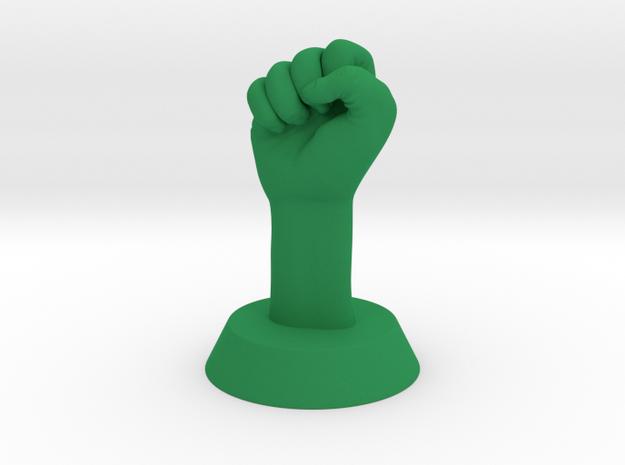 Revolution Fist in Green Processed Versatile Plastic