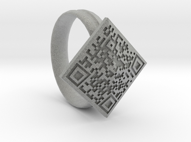 Btc Ring in Metallic Plastic
