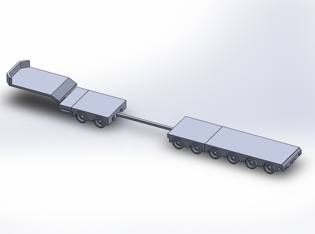1:160/N-Scale 2+6 Axle Semitrailer in Smooth Fine Detail Plastic