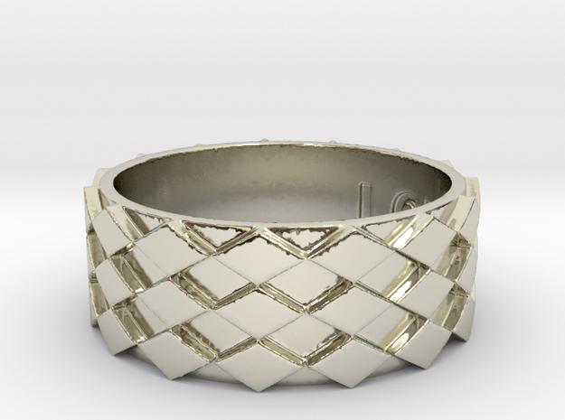 Futuristic Diamond Ring Size 14 in 14k White Gold