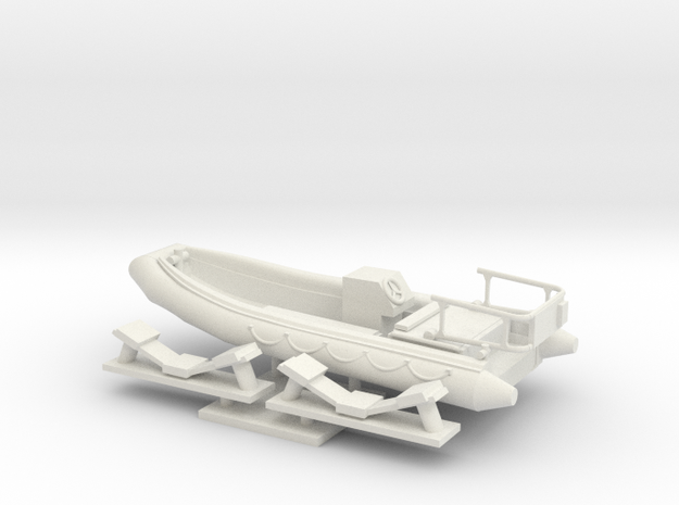 1/48 scale RHIB-16.73 feet Rescue Boat in White Natural Versatile Plastic