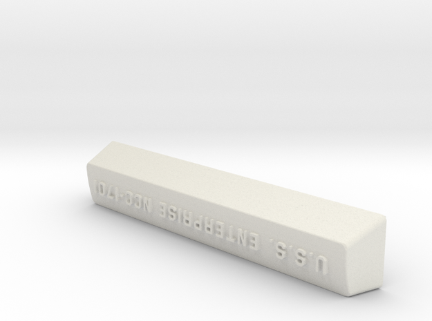 NCC 1701 Model M 104 Key Spacebar in White Natural Versatile Plastic