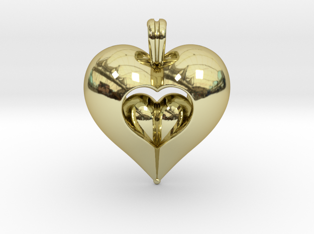 Open Love in 18k Gold Plated Brass