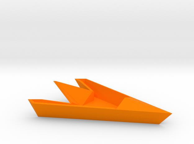 Floating Boat in Orange Strong & Flexible Polished