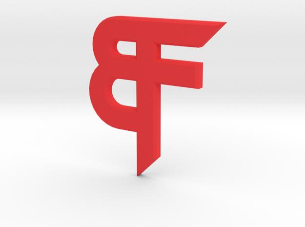 Bakker Fabrication Insignia Key Ring in Red Processed Versatile Plastic